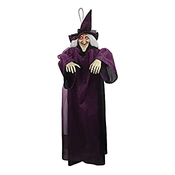 Halloween Decoration Outdoor Hanging Fear Ghost Halloween Garden Decoration Outdoor Lawn Decoration  Purple Witch Props