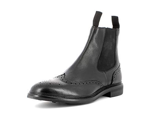Gordon & Bros. Herren Stiefeletten Alessio 6265, Männer Chelsea Boots, Schlupfstiefel flach Herren Maenner maennliche maskulin,Black,45 EU / 11 UK