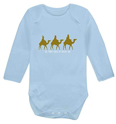 Flox Creative Gilet à Manches Longues pour bébé We Three Kings of Orient are - Bleu - XS