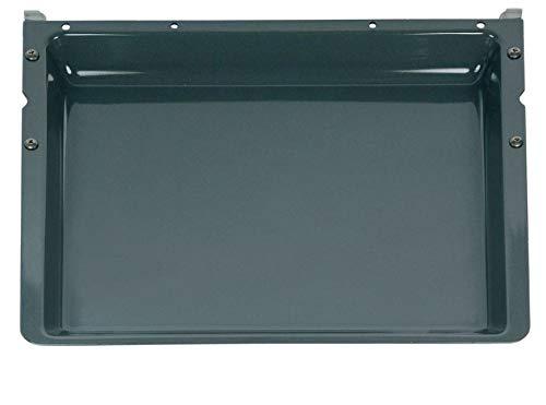 Backblech mit Träger für Backofen 428 x 375 x 40 mm emailliert Siemens 00437876