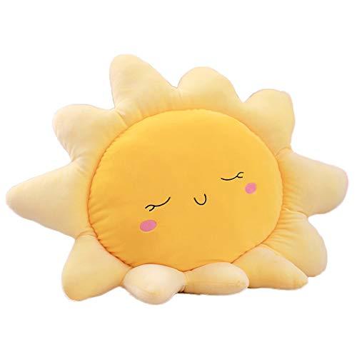 Muñeco de peluche Felpa rellena juguetes lindos Emojis, Almohada sofás-cama creativas Cojines Decoración del hogar for niños Juegos cojines Abrazo felpa almohadas muñeco ( Color : Yellow , Size : L )