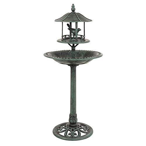 Free Standing Garden Outdoor Bird Feeding Table and Bath with Shelter. Garden Outdoor Birds Station