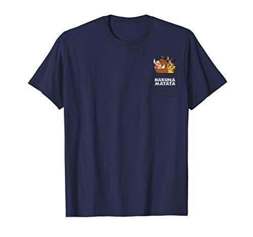 Disney The Lion King Group Shot Hakuna Matata Pocket T-Shirt