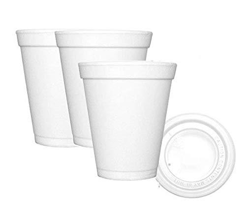 Clim Profesional. Vasos térmicos Desechables de Porex con tapadera para Bebidas Calientes. Vaso térmico de Foam 200 CC para café, té o Bebidas Calientes. Caja con 750 Vasos con tapadera.
