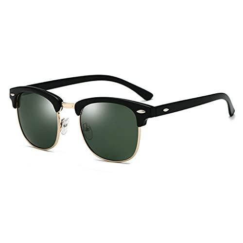 N\C Gafas de Sol polarizadas Hombres Mujeres Diseño Ojo Gafas de Sol Mujeres Semi sin Montura Gafas de Sol clásicas para Hombres