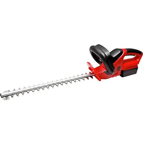 YHRJ Cortasetos eléctrico Cizalla de césped portátil Recargable para el hogar, Cortadora de Mano para arbustos de Parque, Herramientas de jardín de Doble Mango 20V (Color : Black+Red, Size : 78cm)