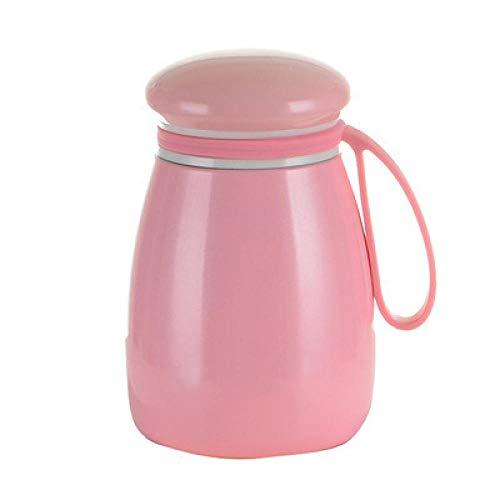 BLACK ELL Thermosflasche Bpa Frei Vakuum Isoliert Edelstahl Trinkflasche,Netter Becher, tragbarer Wasserbecher aus Edelstahl 304 in Pink,Thermosflasche Auslaufsicher Bpa Frei Doppelwandige 500Ml