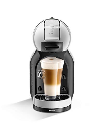 Krups Dolce Gusto Mini me Artic KP123B - Cafetera de cápsulas Nestlé Dolce Gusto automática, 15 bares de presión, motor 1500 W con depósito 0.8 L, para bebidas frías y calientes, gris y negro
