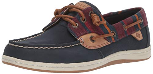 Sperry womens Songfish Varsity Wool Boat Shoe, Navy, 7.5 US