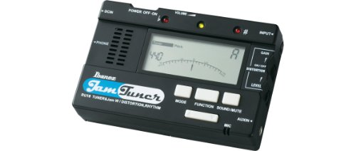 Ibanez RU-10 Jam Tuner - schwarzes Stimmgerät zum Jammen mit Metronom, 20 Rhythmus Patterns & Distortionkanal