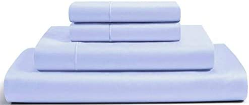 RENAURAA 1000 Thread Count True Egyptian Extra Long Staple Cotton Sheet Set, 4 Pc Set, Sateen Weave, Hotel Collection Soft Luxury Bedding, Fits Upto 16″ Deep Pocket (Blue, King)