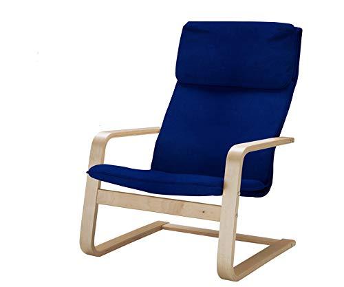 Vinylla Ersatzbezug für Sessel, kompatibel mit IKEA Pello (Samt, blau)