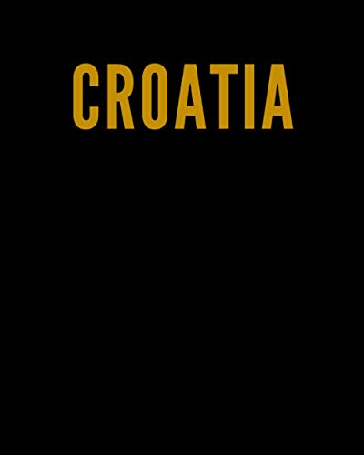 CROATIA: A Decorative GOLD and BLACK Designer Book For Coffee Table Decor and Shelves   You Can Stylishly Stack Books Together For A Chic Modern ... Stylish Home or Office Interior Design Ideas