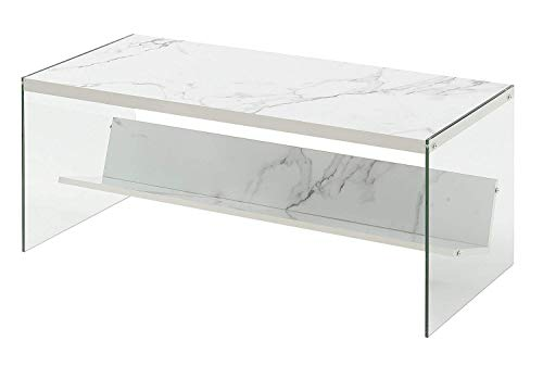 Convenience Concepts SoHo Coffee Table, Faux White Marble