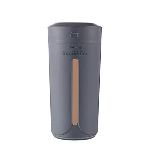 teng hong hui Colorido del USB Luz humidificador Inicio de Sonic humidificador luz humidificador Noche de la Taza de luz humidificador 230ml Antideslizante Inferior