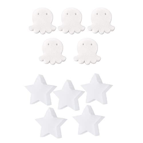 Homyl 10 PACK Star & Octopus Öl Absorbierender Schwamm Für Schwimmbäder Hot Tubs & Spas Absorbiert Ölschlamm, Schmutz Und Schaum