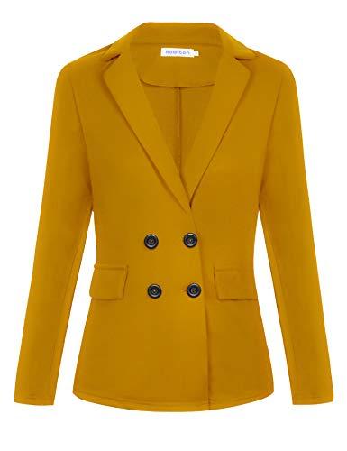 Hawiton Traje de Chaqueta Mujer, Talla Grande Casual Blazers Abrigo Vestir