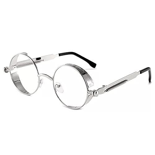PADQ Gafas de Sol clásicas Hombres y Mujeres Gafas de Sol con Montura Retro Gafas UV400