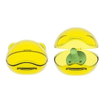 LANEYLI Pacifier Case Pacifier Holder Case Binky Holder Case Pacifier Box Pacifier Accessories 2 Pack Brown