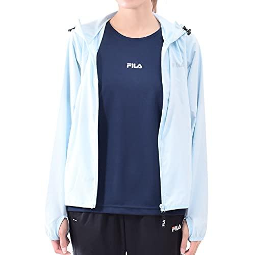 [フィラ] FILA レディース 長袖パーカー Tシャツ 2点セット スポーツウェア 体型カバー 雨晴兼用 441901 (LBL, L)