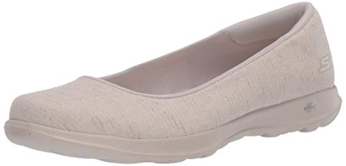 Skechers womens Go Walk Lite - 136001 Ballet Flat, Natural, 8 US