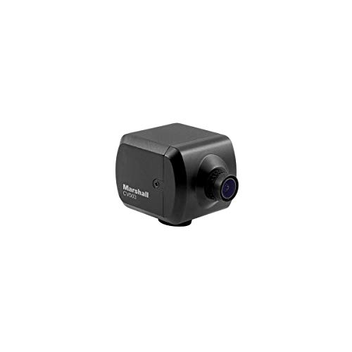 Marshall Electronics CV503 Full HD Miniature Camera with M12 Mount and Interchangeable 3.6mm Lens (72 AOV), 1920x1080p at 60 fps, 3G/HD-SDI Output
