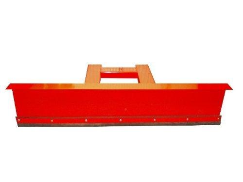 Schneepflug Räumschild Schneeschild Schneeschieber für Gabelstapler 90° Rot / 150 x 40 cm
