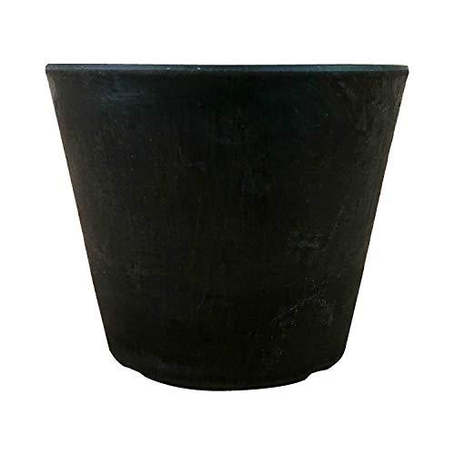 植木鉢 合成樹脂 軽量 ブラックポット 鉢底穴有り (10cm, ブラック)