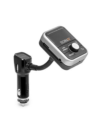 Technaxx FM-Sender + MP3-Player + Bluetooth + DAB +, LCD-Display (FMT1000BT)