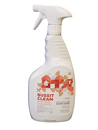 Bussit Clean Food Surface Sanitizer & Cleaner, 1 Quart (3-Pack)