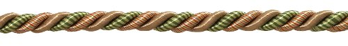 9.1 Meter Pack of Medium Lt Bronze, Olive Green, Terracotta Baroque Collection 8mm Decorative Cord Without Lip Style# 516BNL Color: CHAPARRAL - 5615 (30 Ft / 10 Yards)