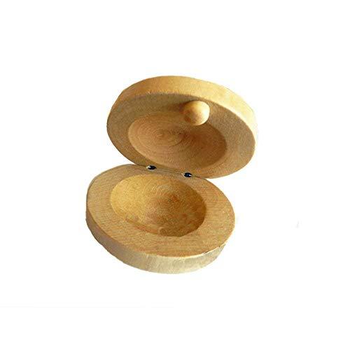 2 castañuelas Orff de madera para niños, ritmo y...