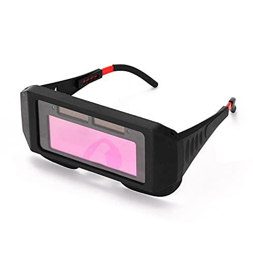 Mascarilla de soldadura de oscurecimiento automático Tapa de soldadura para TIG MIG MMA Gafas de soldadura profesional Gafas Equipo de soldadura (Color : Type1)