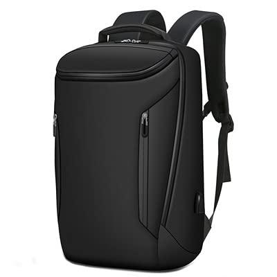 KMMDDE Mochila de carga USB para computadora de negocios, mochila de viaje impermeable, mochila de excursión