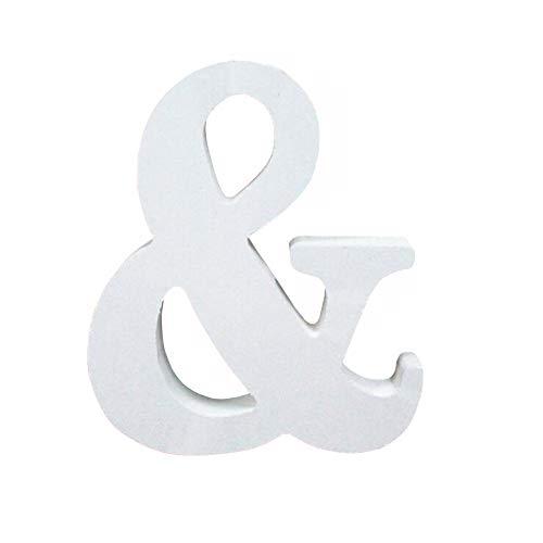 Holzbuchstabe Buchstabe, Toifucos A-Z DIY Englisch Alphabet Holz Buchstaben Handwerk Ornamente für Zuhause Hochzeit Geburtstagsfeier Dekoration Zubehör, Weiß 1 pcs &