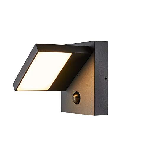 SLV LED Wandleuchte ABRIDOR zur Außenbeleuchtung von Wänden, Wegen, Eingängen, LED Strahler, Wand-Lampe aussen, Aussenleuchte LED, Gartenlampe, Wege-Leuchte / CCT Switch (3000K/4000K), 750 lm, 14W