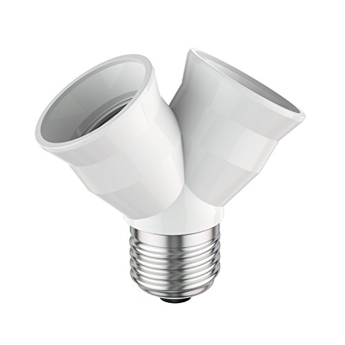 ledscom.de E27 Y-Socket Elektra, adattatore splitter 2 volte da E27 a E27 Duo-Socket