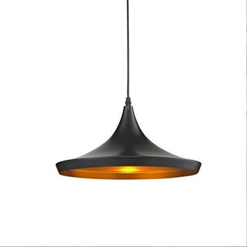 Lámpara de techo vintage industrial, pequeña, de hierro, de aluminio, altura regulable, para cocina, pasillo, loft, bombilla Edison de 36 cm de diámetro, E27