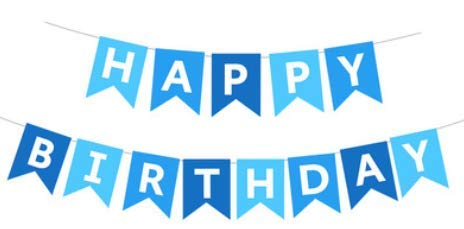 Happy Birthday Banner,Blue Happy Birthday Bunting Banners,Large Hanging Garland,Happy Birthday Bunting Party Decoration For Boys
