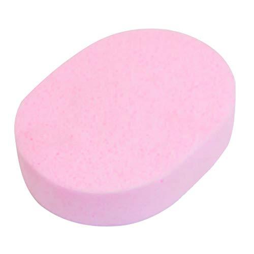 MoreLucky dames roze ovale vorm spons bad spons wasbaar bad lichaam gezichtsreiniging spons pad