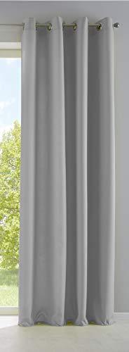 Vorhang Blickdicht Gardine Matt Lichtdurchlässig »Palermo« mit Ösen und Raffhalter Dekoschal HxB 225x140 cm Grau, 10000265