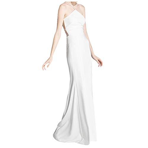 Deerhobbes - Vestido de novia estilo bohemio con accesorios 705, talla grande Marfil Marfil claro 36