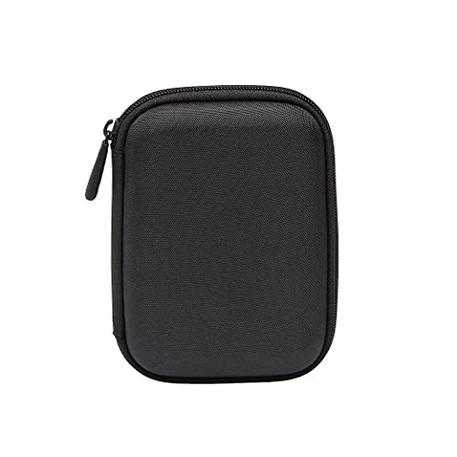 Amazon Basics - Funda de disco duro, color negro y naranja
