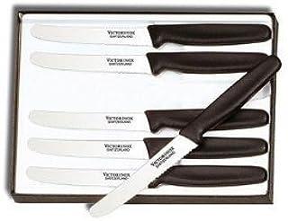 Victorinox Swiss Army Cutlery Serrated Steak Knife Set, Round-tip, 4.25-Inch, 6-Piece