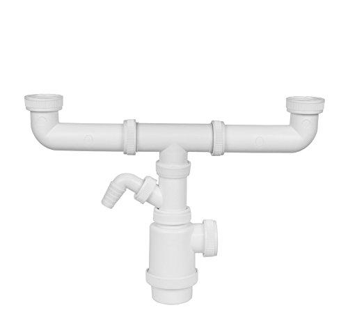 Aqualy® dubbele sifon voor wastafels met stopcontact
