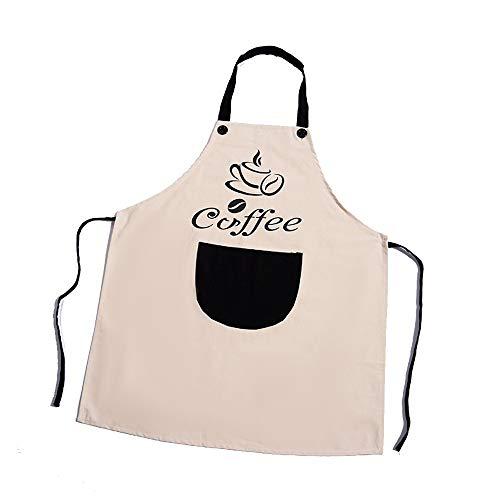 VLHVAQ DFRXK-HM schort, kookschort, voor volwassenen, voor keuken, jurk, vest, Carina Korea, waterdicht en bestand tegen oliën voor restaurant barbecue