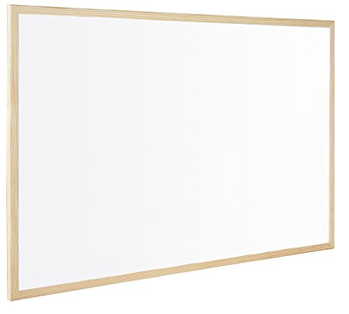 Q-Connect - Pizarra blanca con marco e madera (600 x 400 mm) (KF03570)