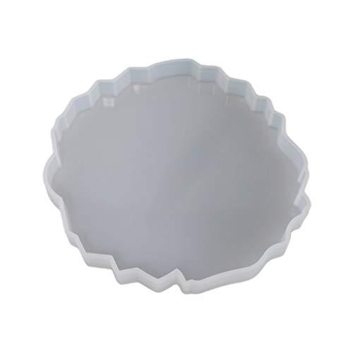CCIIO Molde de Resina epoxi de Cristal de Silicona Molde de fundición de Estera de Posavasos de Onda Irregular Artesanía