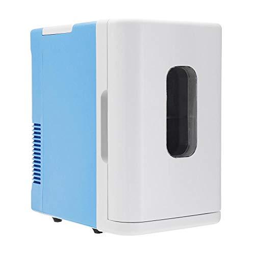 FIONAT Refrigerador de coche de 10L 220V, Mini frigorífico automático, congelador, caja de refrigeración, frigorífico de almacenamiento de frutas y alimentos, 35 * 22 * 32 cm-Blanco_