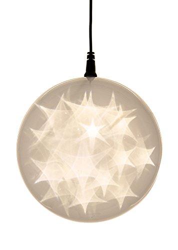 Hi-Line Gift Ltd Hologram Star Ornament, Warm White
